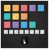 stock photo of braille  - Happy New Year 2015 With Braille Alphabet Design - JPG