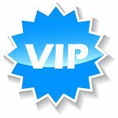 Vip blue icon