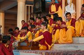Young Novices On Ganga Aarti Ceremony In Parmarth Niketan Ashram