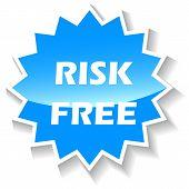 Risk free blue icon
