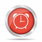 Clock Icon, Vector Illustration. Flat Design Style