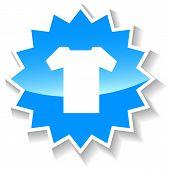 T-shirt blue icon