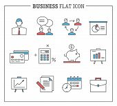 Business and finance, analytics icons.