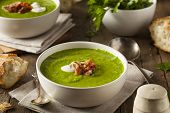 Homemade Green Spring Pea Soup