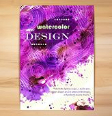 Poster Template with Watercolor Splash.