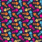 Bright fish bones pattern