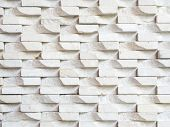 White Stone Brick Wall Background