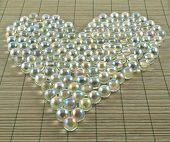 Heart shape of transparent balls