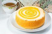 Sponge Cake With Tea Cup