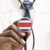 Stethoscope With National Flag Conceptual Series - Costa Rica