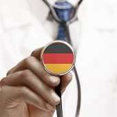 Stethoscope With National Flag Conceptual Series - Germany