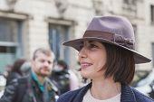 People Outside Gucci Fashion Show Building For Milan Women's Fashion Week 2015