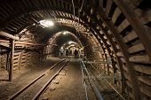 picture of tunnel  - The coal mine underground tunnels - JPG