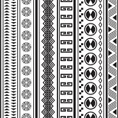 stock photo of tribal  - Tribal striped seamless pattern - JPG