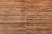 Wooden facade in horizontal format