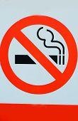 Signs Symbolize No Smoking.