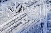 stock photo of frozen  - Frozen water - JPG