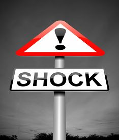 pic of shock awe  - Illustration depicting a sign with a shock concept - JPG