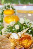foto of cultural artifacts  - Thai wedding object  - JPG