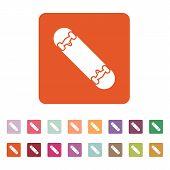 pic of skateboard  - The skateboard icon - JPG