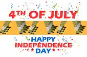 picture of parade  - vector illustration of 4th of July Parade - JPG
