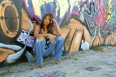 Beautiful Mature Black Woman with Graffiti (5)