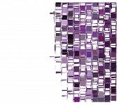 image of fragmentation  - purple fragmented square abstract pattern over white - JPG