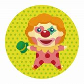 stock photo of clown face  - Clowns Theme Elements - JPG