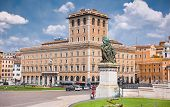 picture of piazza  - Wide angle view of Piazza Venezia - JPG