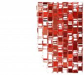 picture of fragmentation  - Red fragmented abstract square pattern over white - JPG