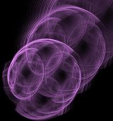 stock photo of cosmic  - Violet abstract fractal cosmic spiral and lines - JPG