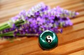 stock photo of stress-ball  - Green Chinese ball for relaxation - JPG