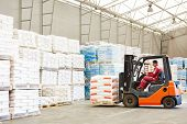 picture of forklift driver  - warehousing - JPG