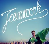 picture of collaboration  - Teamwork Team Collaboration Support Member Unity Concept - JPG