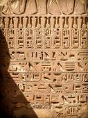 pic of hieroglyph  - Hieroglyphics detail at the Karnak Temple Complex in Luxor  - JPG