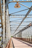 stock photo of girder  - Detail take of the girders of an old industrial bridge - JPG