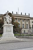 picture of plinth  - A statue outside the university buildings in Berlin - JPG
