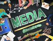 picture of mass media  - Media Devices Mess Communication Multimedia Concept - JPG