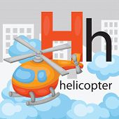 foto of rescue helicopter  - the letter h for the word helicopter - JPG