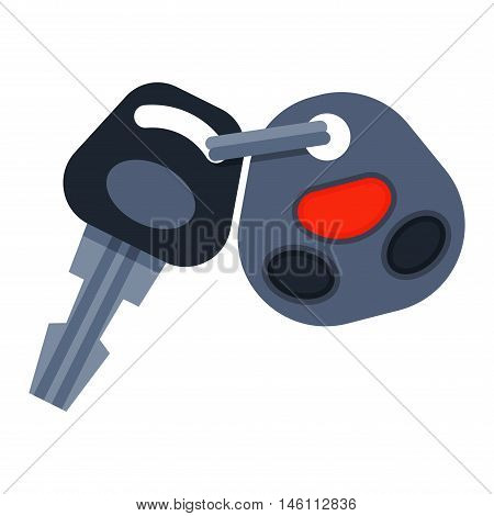 poster of Car key with remote control and car keys vector. Car keys automobile security lock and car keys remote control alarm. Car keys transportation new unlock object, car keys wireless technology.