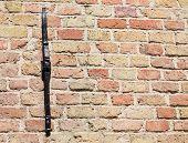 Ziegelmauer, geringe Schärfentiefe