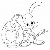 Outlined Painter Bunny