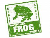 National Frog Month Stamp