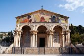 picture of church mary magdalene  - Church of All Nations in garden of Gethsemane Jerusalem Israel - JPG