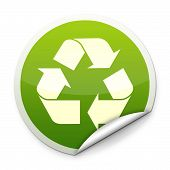 Recycle logo sticker