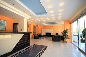 image of reception-area  - Luxury Hotel lobby reception area - JPG