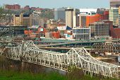 Aerial View Of Brent Spence Bridge, Cincinnati Ohio