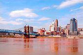 Ponte histórica de Roebling, Cincinnati Ohio, EUA