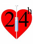 Syringe And Heart 24 H