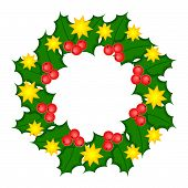 Holy Wreath Christmas Illustration.